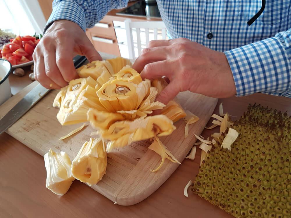 Zubereitung von Jackfrucht
